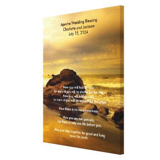Het Huwelijk die van Apache Gouden OceaanRots Canvas Afdruk