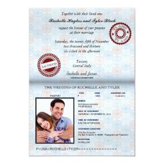 Het Huwelijk geopende Invitation_custom van het 12,7x17,8 Uitnodiging Kaart