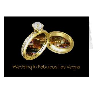 """Het huwelijk in Fabelachtig Las Vegas """"BELT"""" Kaart"""