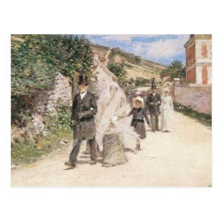 Het huwelijk Maart door Theodorus II Robinson, Wenskaart