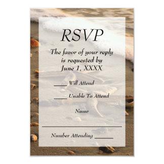 Het Huwelijk of gebeurtenis RSVP van het strand Kaart