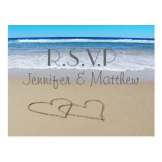"""Het huwelijk """"rsvp"""" briefkaart van de Liefde van"""