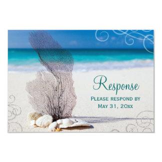 Het Huwelijk RSVP van de Bestemming van het Strand 8,9x12,7 Uitnodiging Kaart