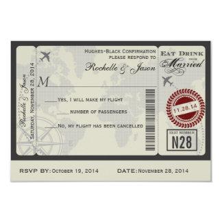 Het Huwelijk RSVP van het Kaartje van de 8,9x12,7 Uitnodiging Kaart