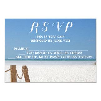 Het Huwelijk RSVP van het strand Kaart