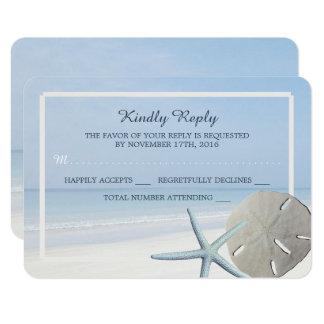 Het Huwelijk RSVP van het Strand van de Dollar en 8,9x12,7 Uitnodiging Kaart