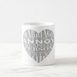 Het huwelijk, staat u toe om te ergeren (grijs) - koffiemok