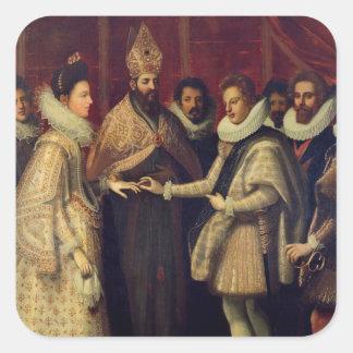 Het huwelijk van Catherine de Medici Vierkante Sticker