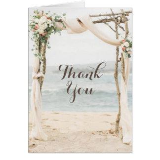 Het Huwelijk van de As van het strand dankt u Briefkaarten 0
