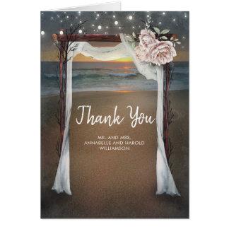 Het Huwelijk van de As van het strand dankt u Kaart