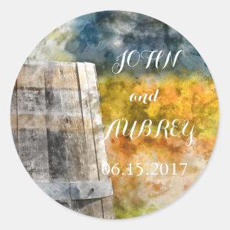 Het Huwelijk van de Bestemming van het wijnvat Ronde Sticker