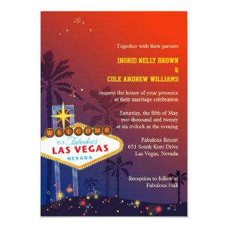Het Huwelijk van de Bestemming van Las Vegas 12,7x17,8 Uitnodiging Kaart