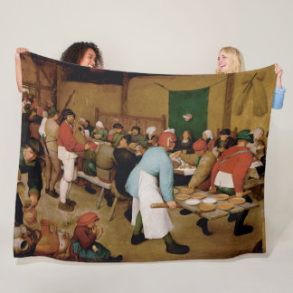 Het huwelijk van de Boer door Pieter Bruegel Ouder Fleece Deken