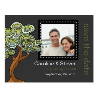 Het Huwelijk van de Boom van Eco bewaart de Datum Briefkaart