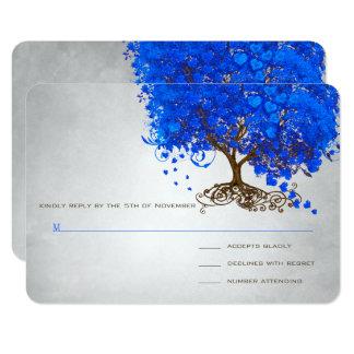Het Huwelijk van de Boom van het Blad van het Hart 8,9x12,7 Uitnodiging Kaart