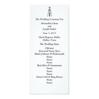 Het Huwelijk van de Boortoren van de olie   10,2x23,5 Uitnodiging Kaart