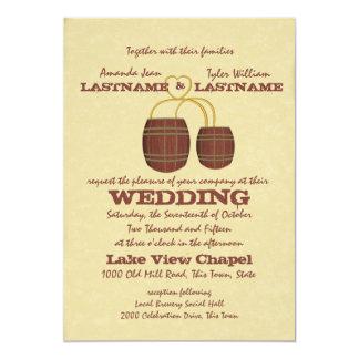 Het Huwelijk van de Brouwerij van het bier 12,7x17,8 Uitnodiging Kaart