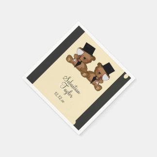Het Huwelijk van de Bruidegoms van de teddybeer Papieren Servetten