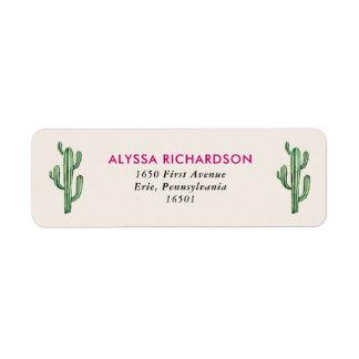 Het Huwelijk van de Cactus van Glam van de Etiket