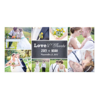 Het Huwelijk van de Collage van Chalked dankt u de Fotokaart