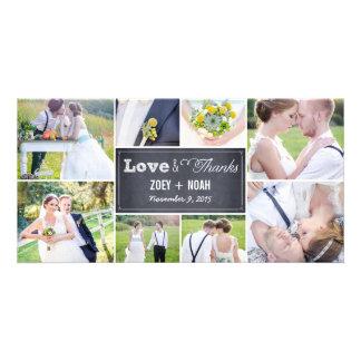 Het Huwelijk van de Collage van Chalked dankt u de Kaart