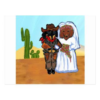 Het Huwelijk van de Cowboy van Doxie Briefkaart