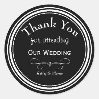 Het Huwelijk van de douane dankt u Ronde Sticker