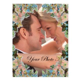 Het Huwelijk van de foto bewaart de Datum Briefkaart