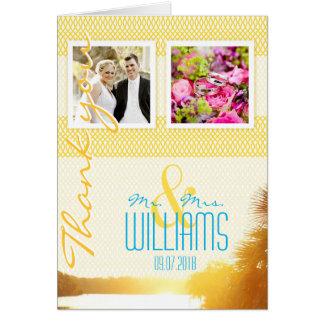 Het Huwelijk van de Foto van de douane dankt u Briefkaarten 0