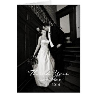 Het Huwelijk van de Foto van de douane dankt u Notitiekaart