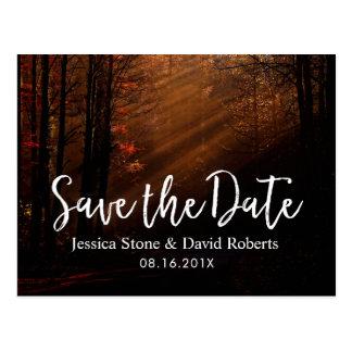 Het Huwelijk van de herfst bewaart de Datum Briefkaart