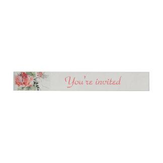 Het Huwelijk van de Hibiscus van de waterverf Adreslabel Wikkel