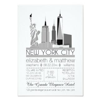 Het Huwelijk van de Horizon van de Stad van New Kaart
