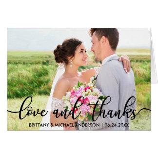 Het Huwelijk van de liefde en van het Bedankt Kaart