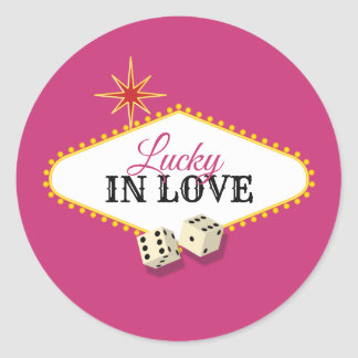 Het Huwelijk van de Markttent van Las Vegas in Ronde Sticker
