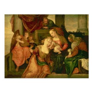 Het huwelijk van de Mysticus van Heilige Catherine Briefkaart