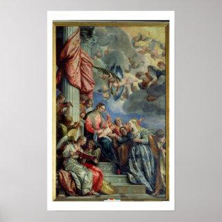 Het huwelijk van de Mysticus van St. Catherine Poster