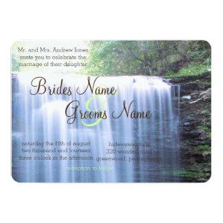 Het Huwelijk van de Natuur van Greeny 12,7x17,8 Uitnodiging Kaart