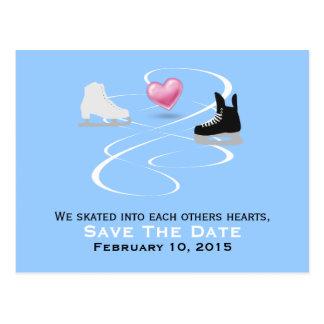 Het Huwelijk van de Schaatsers van het ijs bewaart Briefkaart