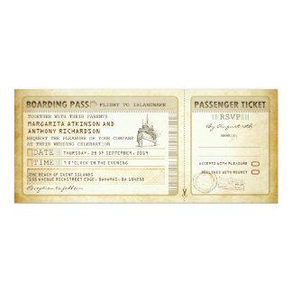 het huwelijk van de schip instapkaart 10,2x23,5 uitnodiging kaart