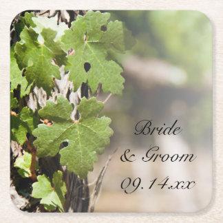 Het Huwelijk van de Wijngaard van de Bladeren van Vierkante Onderzetter