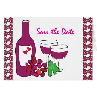 Het Huwelijk van de Wijngaard van de rode Wijn Briefkaarten 0