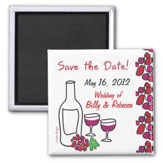 Het Huwelijk van de Wijngaard van de rode Wijn Magneet