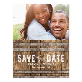 Het Huwelijk van de wijnmakerij bewaart de Datum Briefkaart