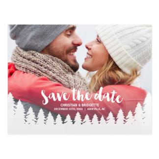 Het Huwelijk van de winter | Foto bewaart de Datum Briefkaart