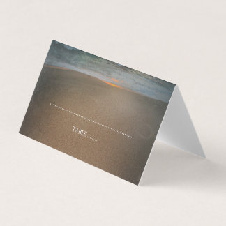 Het Huwelijk van de Zonsondergang van het strand Plaatskaart