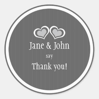 Het Huwelijk van harten dankt u Ronde Sticker