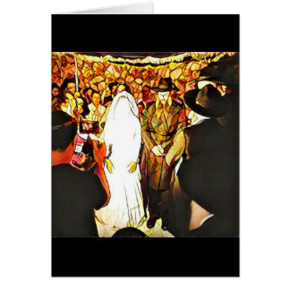 Het Huwelijk van Hassidic Wenskaart