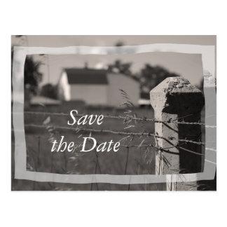Het Huwelijk van het Boerderij van het land Briefkaart