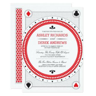 Het Huwelijk van het casino nodigt door het Print 12,7x17,8 Uitnodiging Kaart